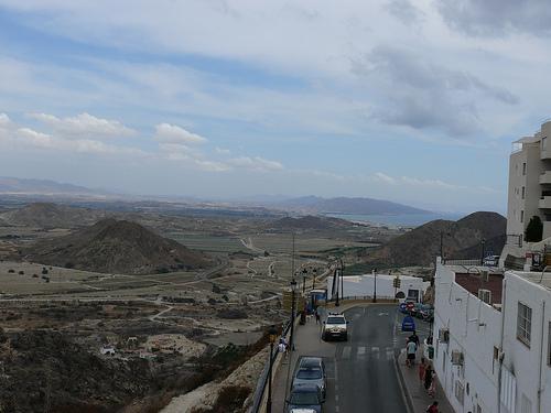 Vista de Mojácar, en Almería