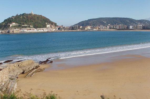 Playa en San Sebastián